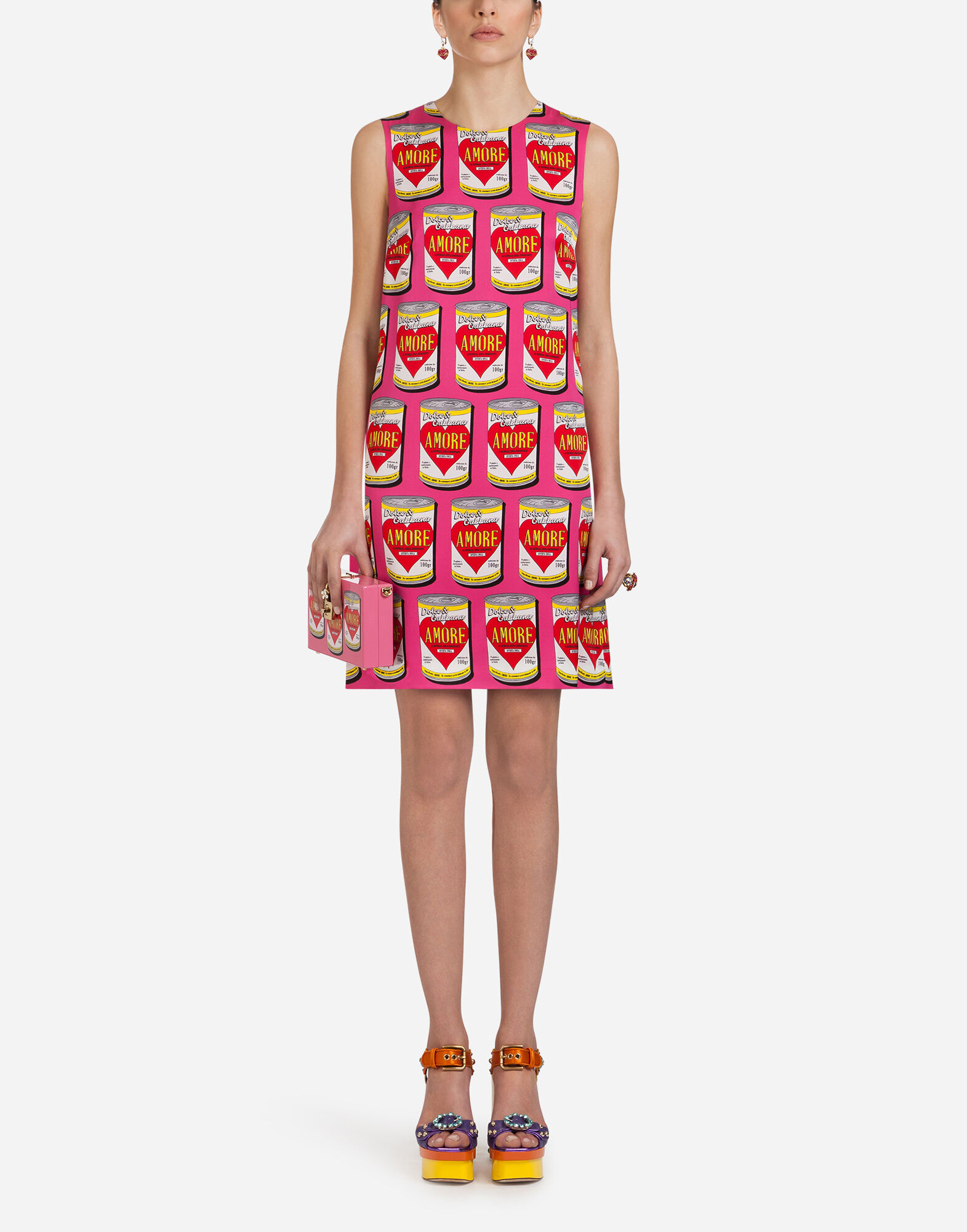 AMORE CAN A-LINE PRINT DRESS