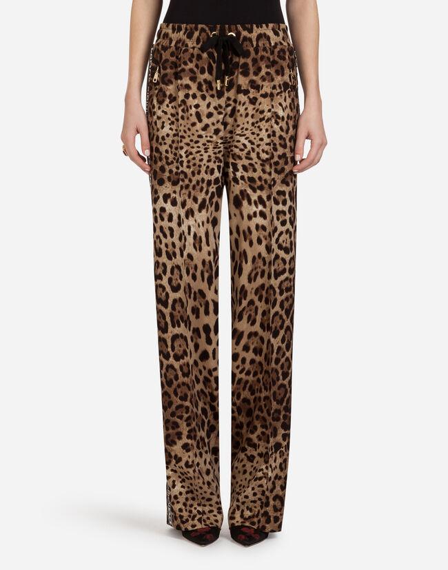 Dolce & Gabbana PRINTED CADY PANTS