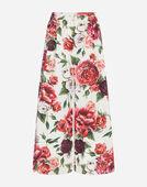 Dolce&Gabbana PEONY-PRINT COTTON PANTS