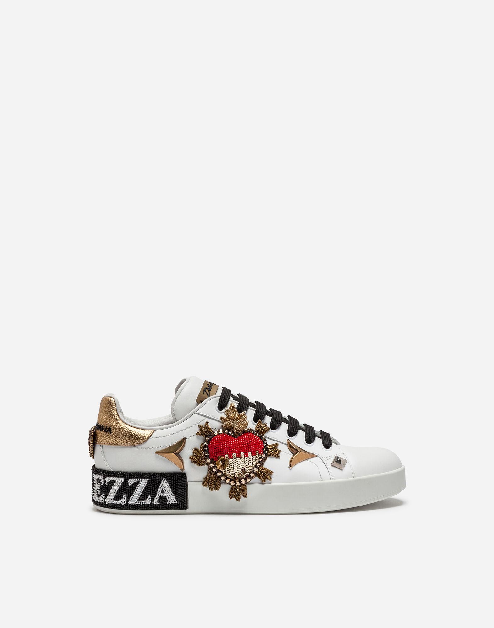 Dolce & Gabbana White & Pink Writing Sneakers 2JMv2XXeu