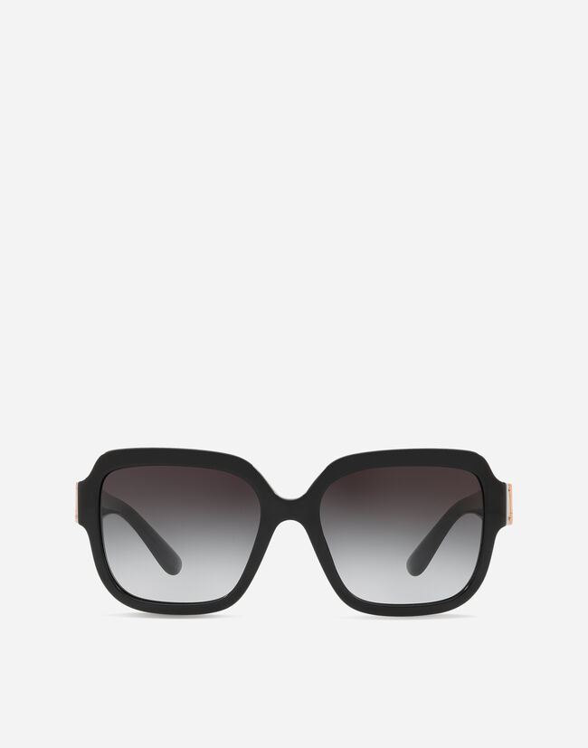 SQUARE SUNGLASSES IN ACETATE WITH LOGO PLATE