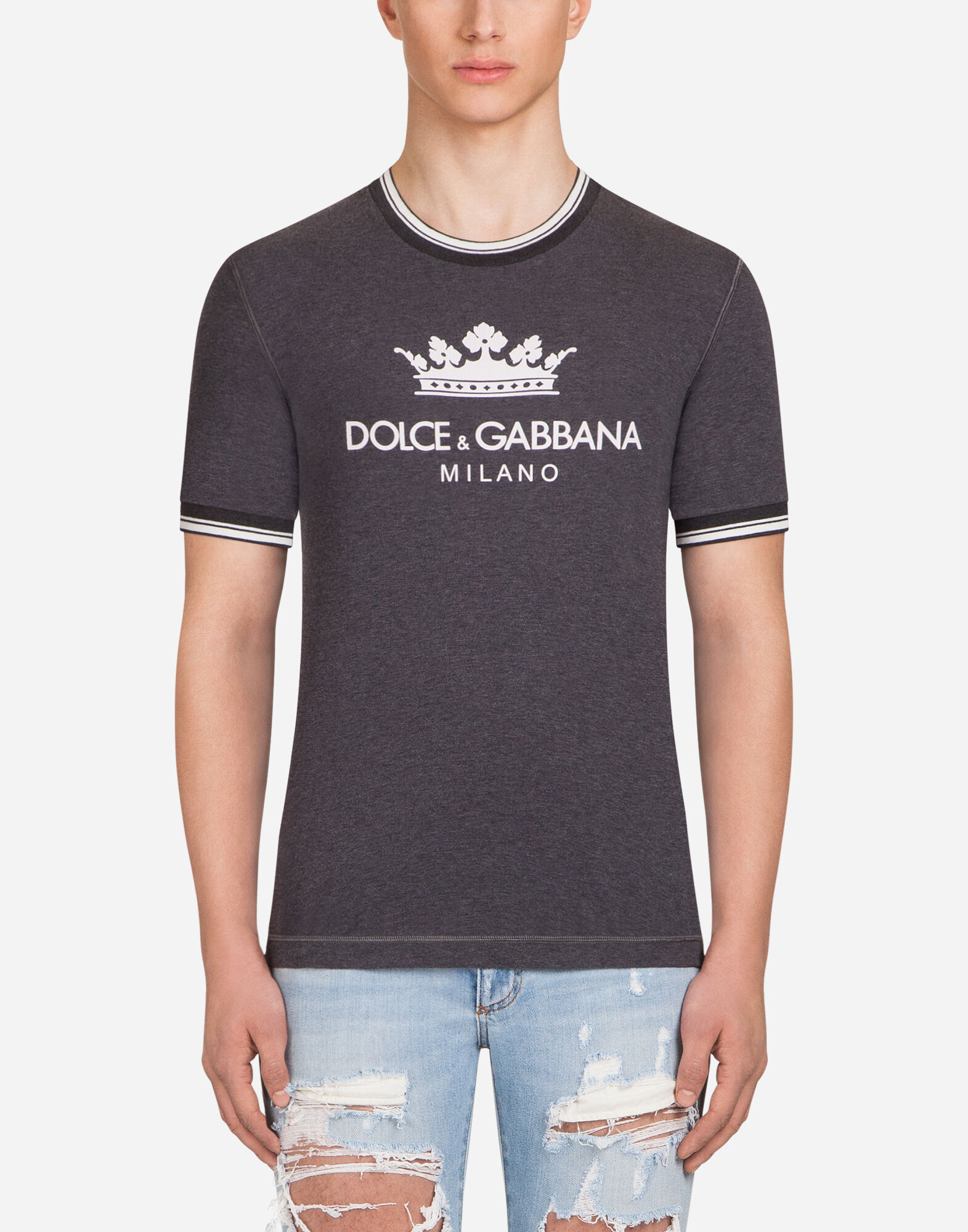 PRINTED COTTON T-SHIRT from DOLCE & GABBANA