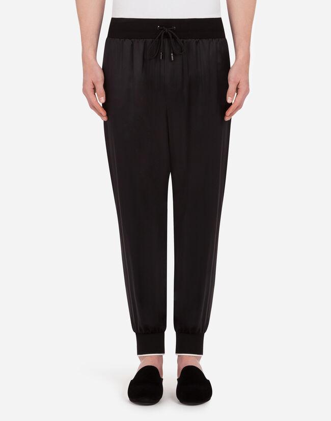 Dolce&Gabbana SILK SATIN JOGGING PANTS