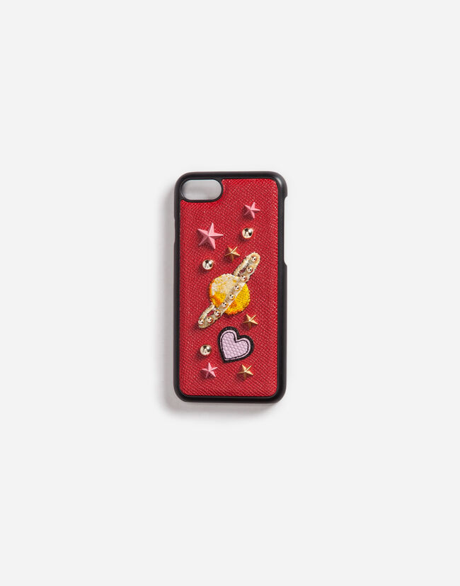 IPHONE 7 COVER WITH LEATHER DETAIL AND APPLIQUÉ