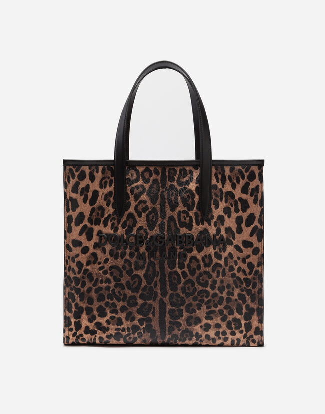 Market Bag in Leopard-Print Crespo Leather - Women s Bags ... a6ca90d336