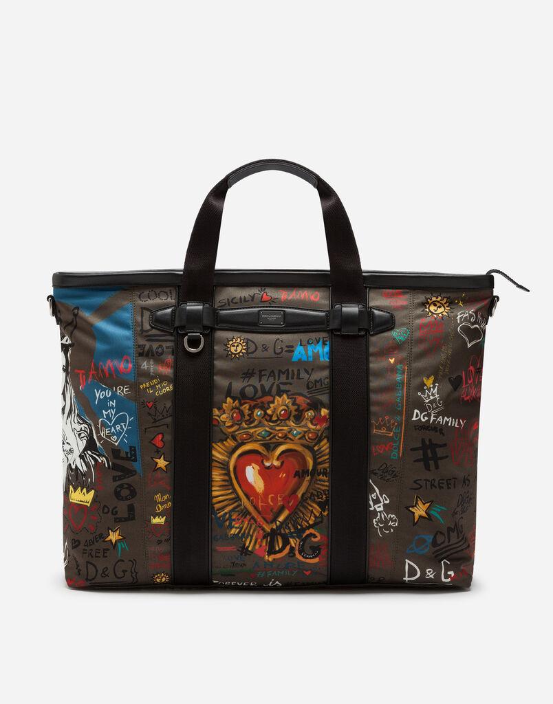 Dolce   Gabbana SAC DE VOYAGE EN NYLON IMPRIMÉ be8118c44a62