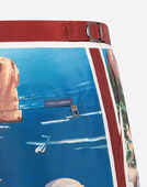 LONG PRINTED SWIMMING TRUNKS
