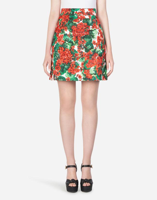 d3180417e Women's Skirts | Dolce&Gabbana - SHORT PORTOFINO-PRINT BROCADE SKIRT