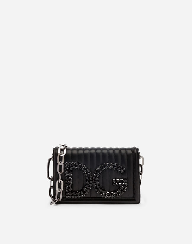 DG GIRGLS SHOULDER BAG IN QUILTED NAPPA LEATHER