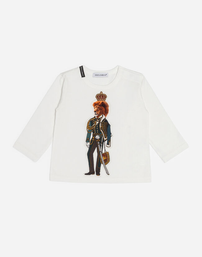 COTTON T-SHIRT WITH PATCH AND EMBROIDERY
