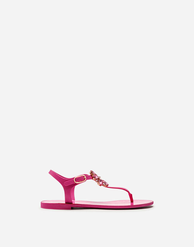 RUBBER FLIP-FLOP SANDAL AND PATENT WITH BROCADE