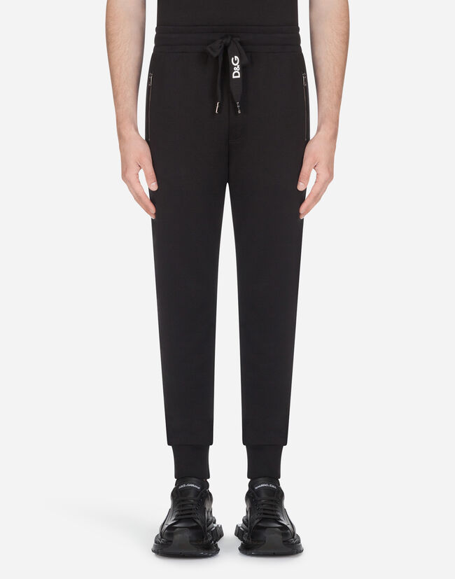 Dolce & Gabbana COTTON JOGGING PANTS WITH EMBROIDERY