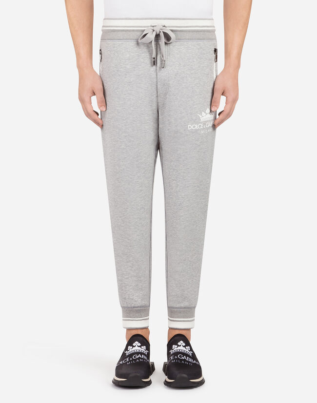 COTTON JOGGING PANTS WITH PRINT