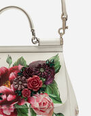 MEDIUM SICILY BAG IN PEONY-PRINT DAUPHINE CALFSKIN