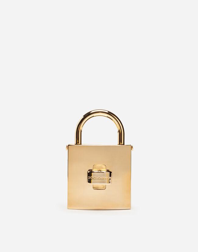 DOLCE LOCK BAG IN METALLIC ABS