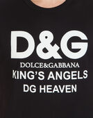 COTTON T-SHIRT WITH D&G PRINT