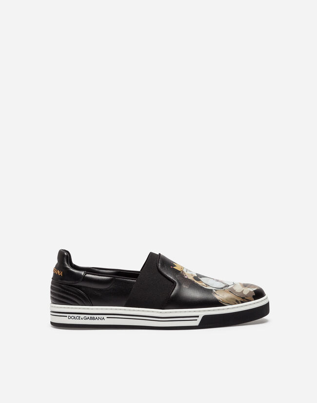 SLIP-ON ROMA SNEAKERS IN PRINTED CALFSKIN