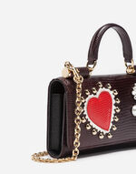 MINI LEATHER VON BAG WITH PATCH