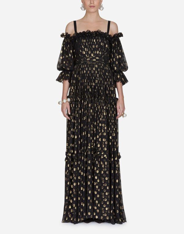 Dolce Gabbana Silk Chiffon Long Dress