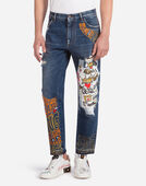 OVERSIZED FIT PRINTED JEANS