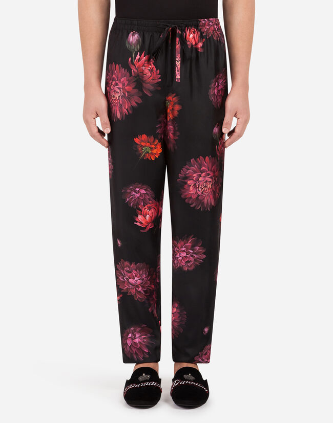 Dolce & Gabbana PANTS IN PRINTED SILK