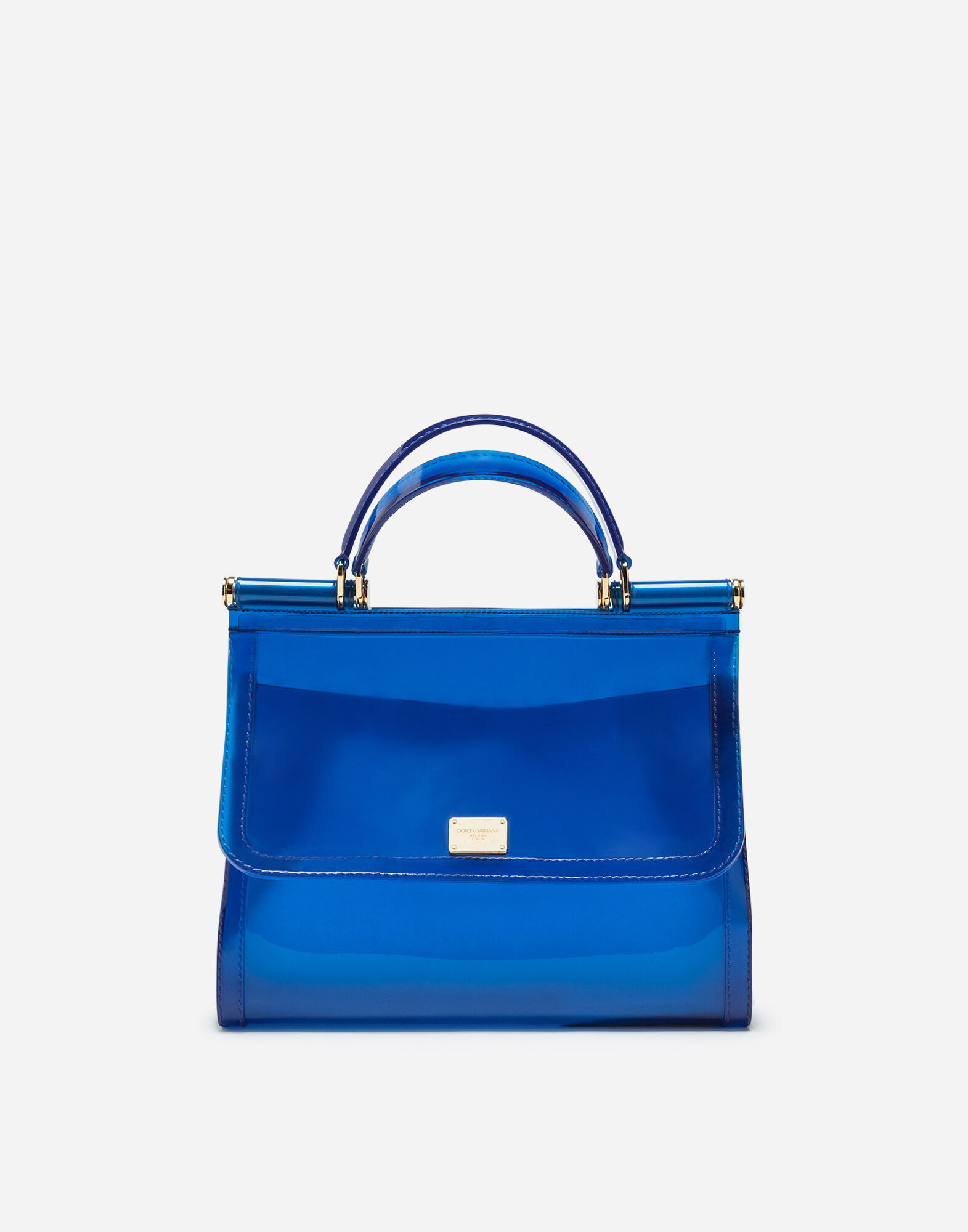 1971c98cc0 Dolce   Gabbana Semi-Transparent Rubber Sicily Handbag In Blue ...