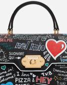 Dolce&Gabbana WELCOME HANDBAG IN GRAFFITI PRINT CALFSKIN