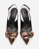SLINGBACKS IN FLORAL JACQUARD
