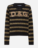 Dolce & Gabbana EMBROIDERED SWEATER IN CASHMERE AND LUREX
