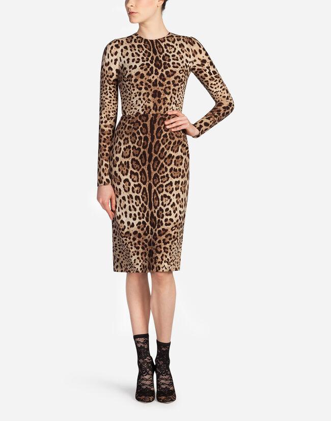 Dolce & Gabbana LEOPARD PRINT CADY DRESS