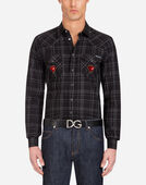 Dolce&Gabbana COTTON COWBOY SHIRT WITH PATCHES