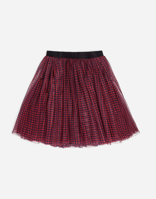 PRINTED TULLE SKIRT
