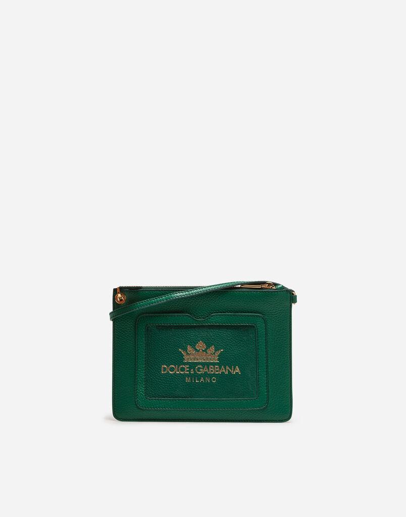 Dolce & Gabbana DRUMMED CALFSKIN POUCH
