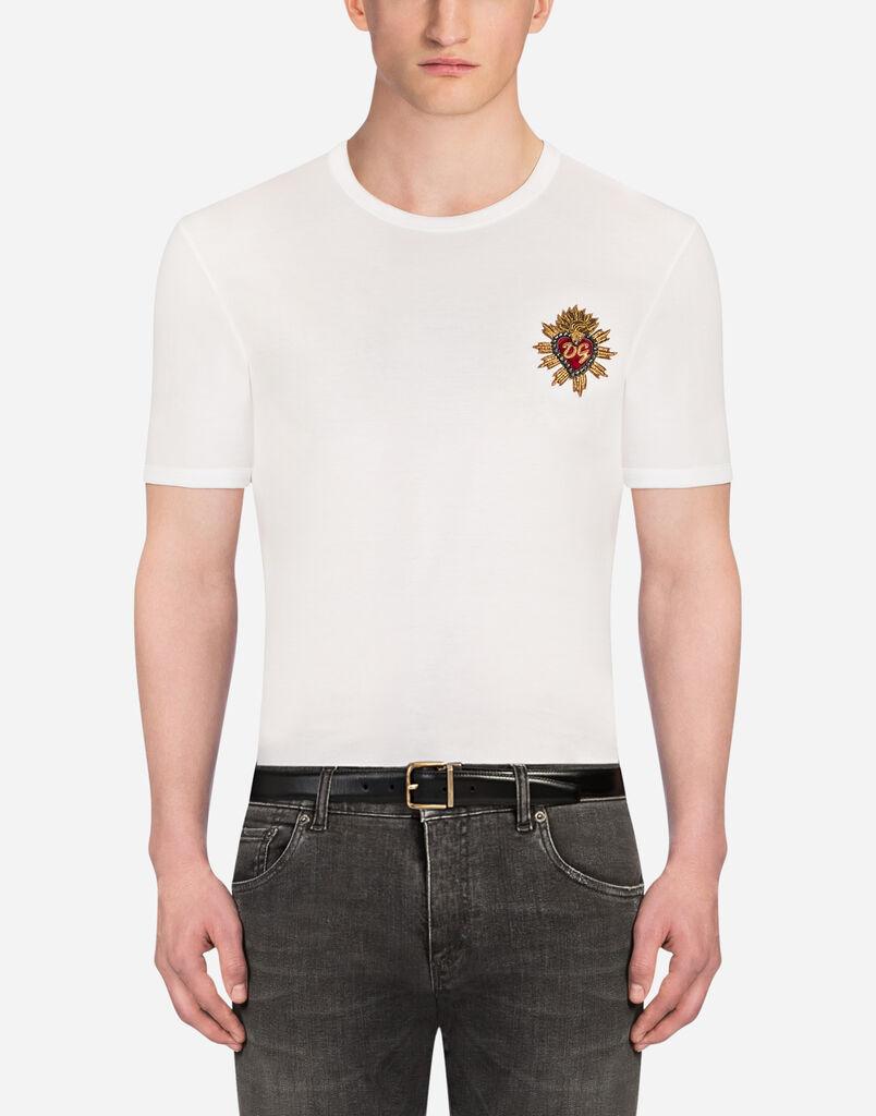 Dolce Gabbana T-SHIRT EN COTON AVEC ÉCUSSONS f6a774cbe400