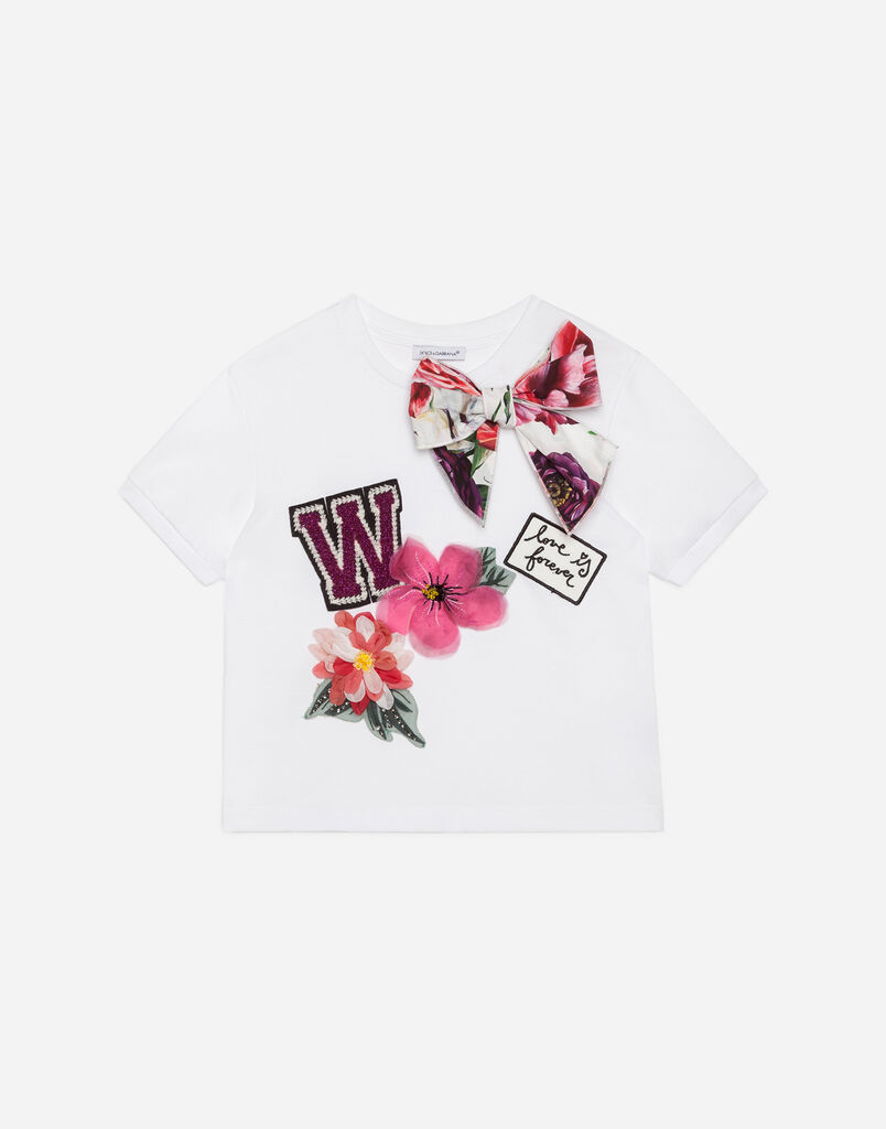 Dolce&Gabbana COTTON T-SHIRT WITH APPLIQUÉ