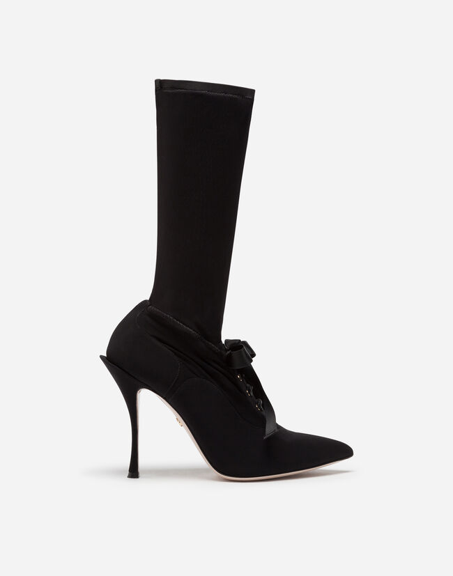 ANKLE BOOTS IN STRETCH JERSEY