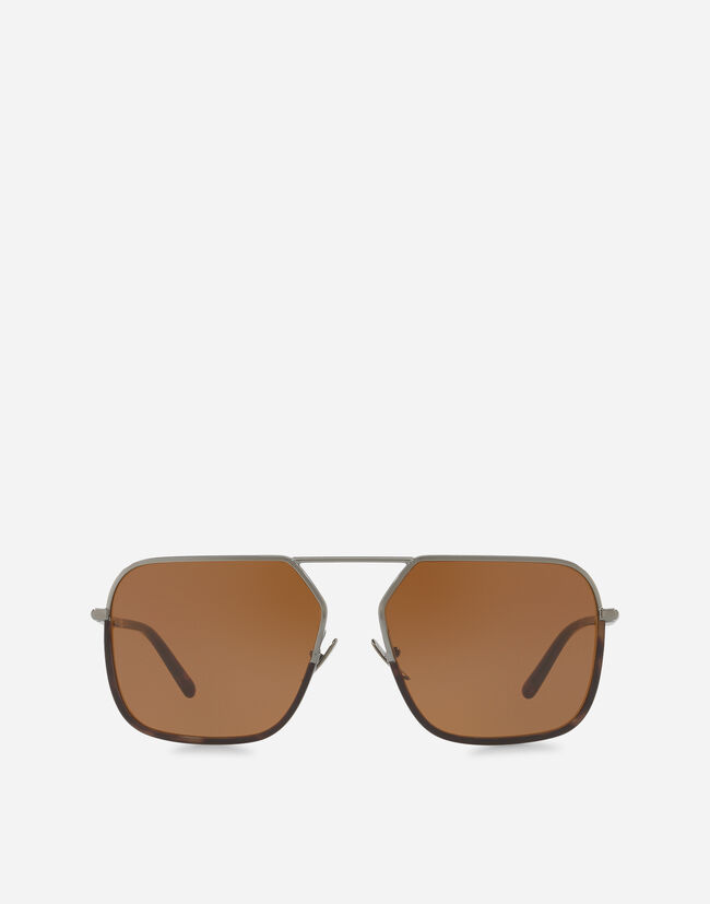 Dolce&Gabbana RECTANGULAR SUNGLASSES WITH METAL BRIDGE