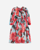 SILK DRESS WITH BOW