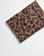 PRINTED LEATHER PASSPORT HOLDER AND TAG