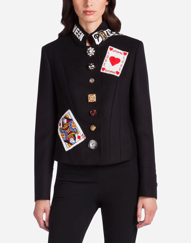 WOOL JACKET WITH PATCH