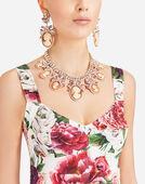 Dolce & Gabbana PEONY-PRINT BROCADE DRESS