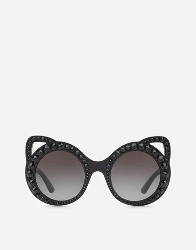 Dolce   Gabbana LUNETTES DE SOLEIL RONDES EN ACÉTATE AVEC CRISTAUX dab93a4fc0b4