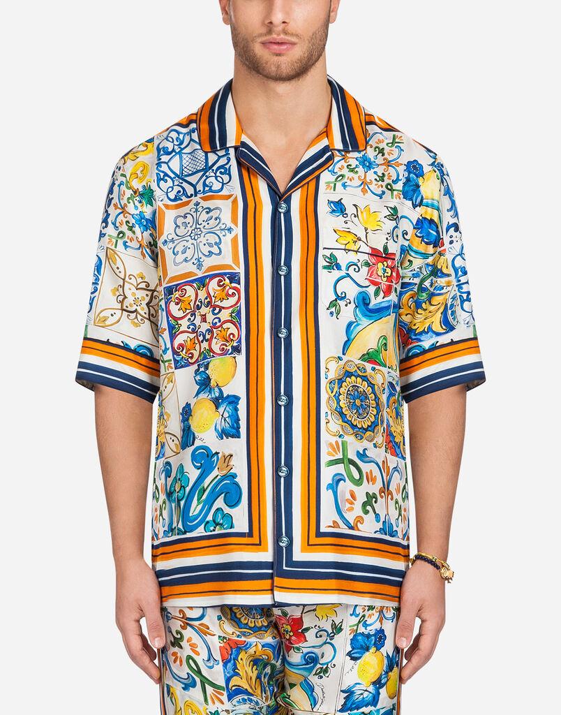 Dolce&Gabbana PRINTED SILK PAJAMA SHIRT