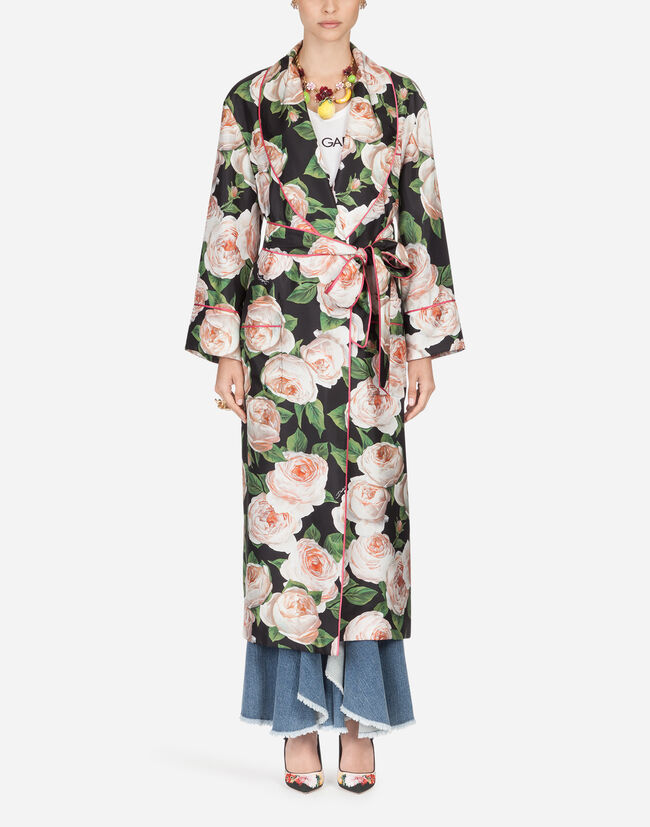 Dolce & Gabbana PRINTED SILK ROBE