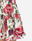 COTTON DRESS IN PEONY PRINT