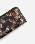 Dolce & Gabbana ZIP-AROUND WALLET IN PRINTED DAUPHINE LEATHER