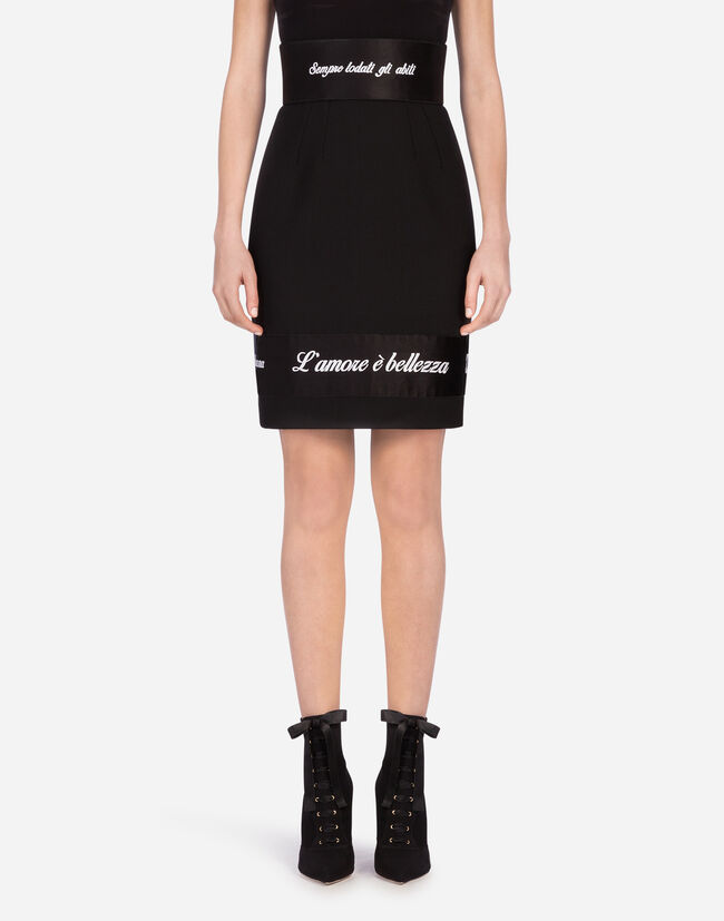 Dolce & Gabbana WOOL SKIRT