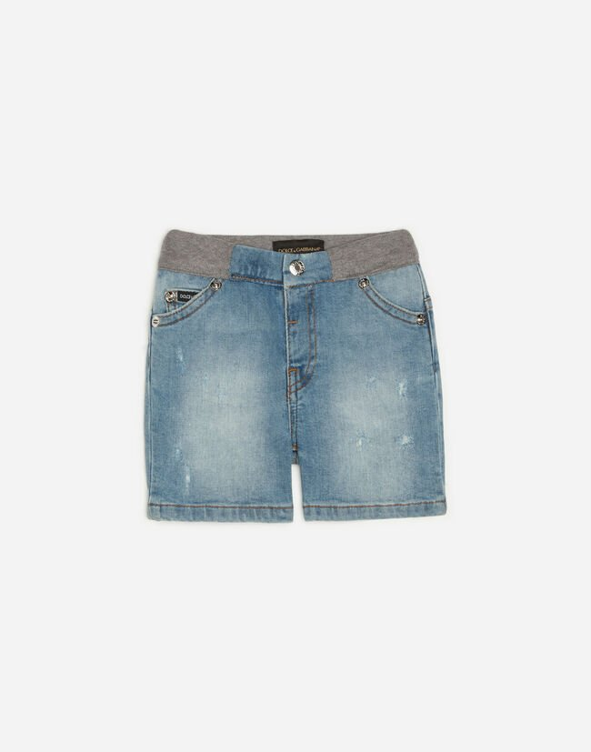 STRETCH JEAN SHORTS