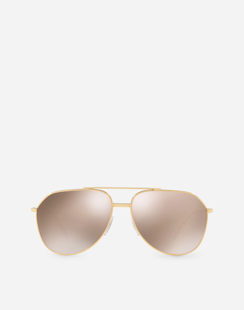 official store professional top-rated latest Aviator Sunglasses In Gold-Plated Metal - Men | Dolce&Gabbana