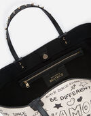 BEATRICE SHOPPING BAG IN MURAL PRINT CALFSKIN